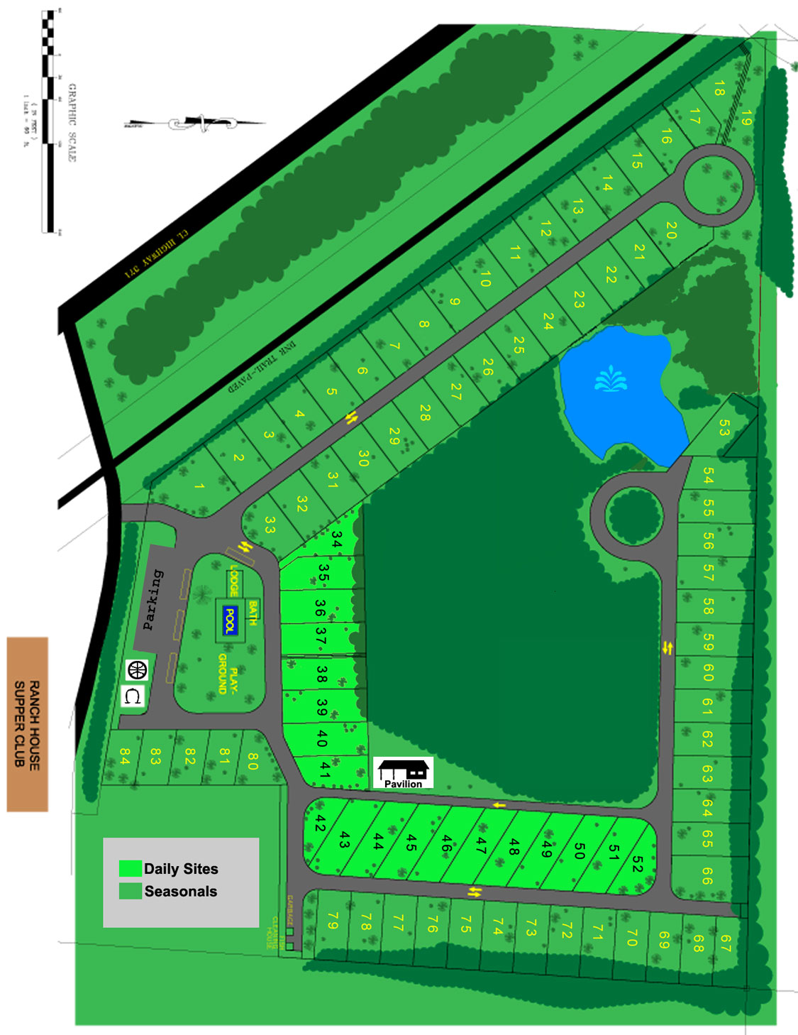 Trails rv park park layout for Rv park blueprints