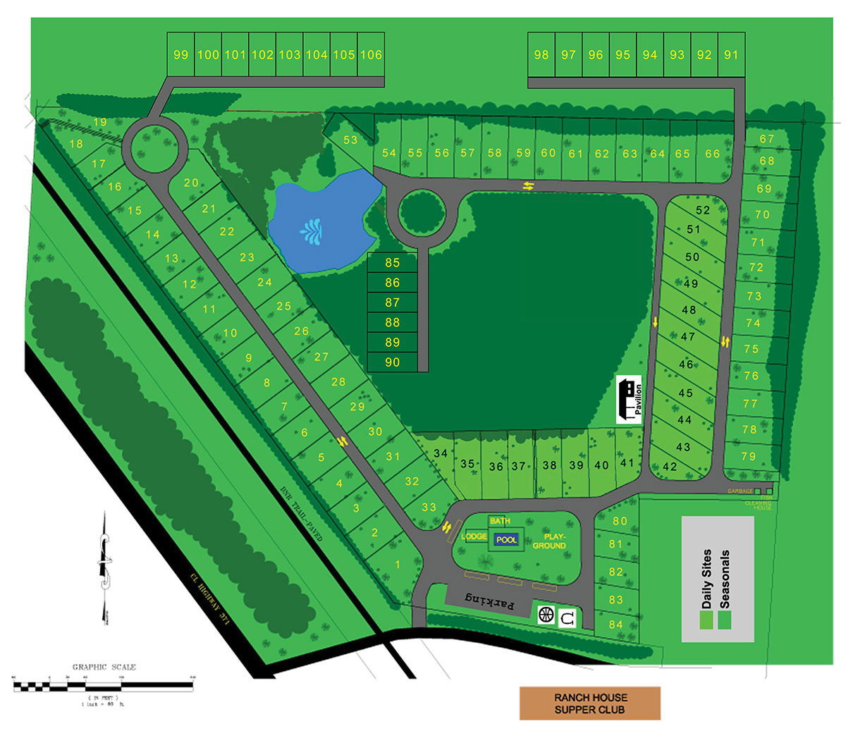 Trails RV Park Layout